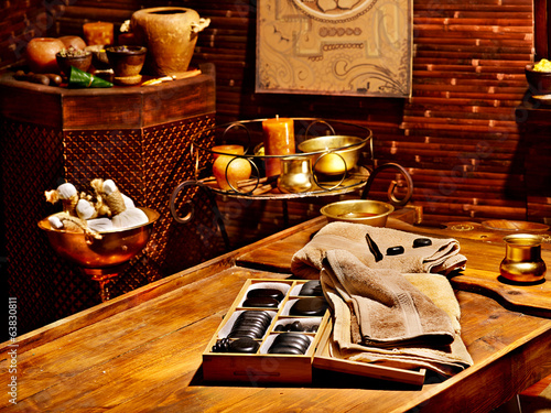 Ayurvedic spa massage still life