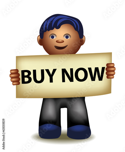 Buy now funny cartoon manager