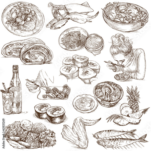 Food and Drinks around the World (white set no. 5)
