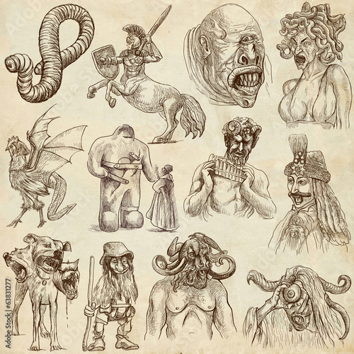 Myths and Legendary Monsters around the World (paper set no. 1)