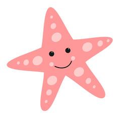 Estrella de mar rosa