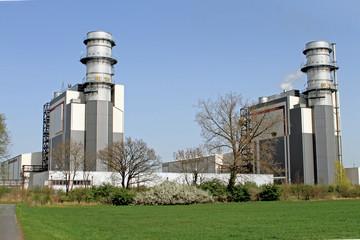 Modernes Gaskraftwerk