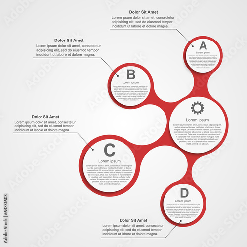 Abstract infographic. Design elements.