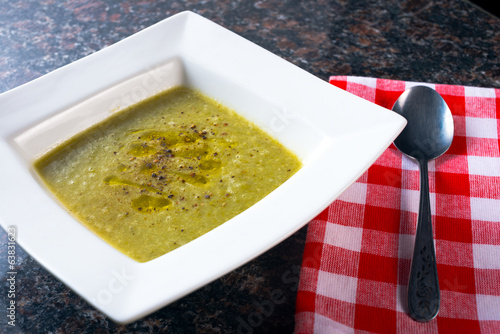Bowl of Green bean Soup