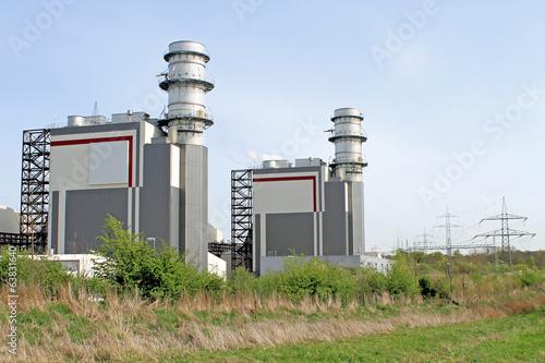 Leinwandbild Motiv Modernes Gaskraftwerk