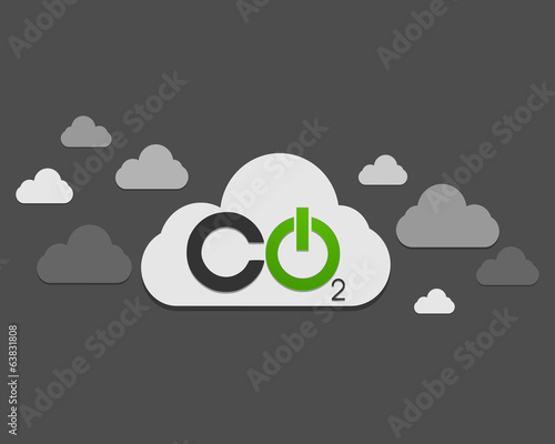 CO2 cloud ecology concept