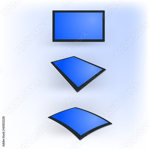 tablet computer in different forms. black template