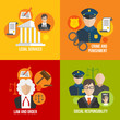Law flat icons - 63832488