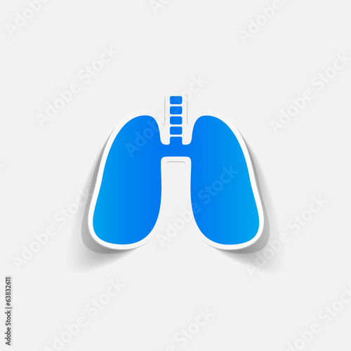 realistic design element: lung, medical