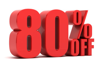 80 percent off promotion