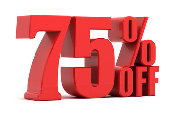 75 percent off promotion