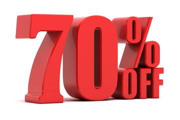 70 percent off promotion