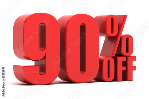 90 percent off promotion