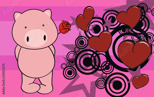pig baby cute cartoon valentine card