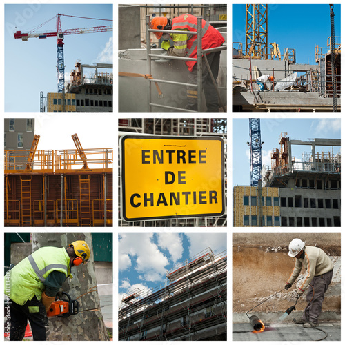 Composition chantiers de construction