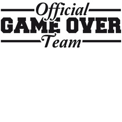 Official Game Over Team