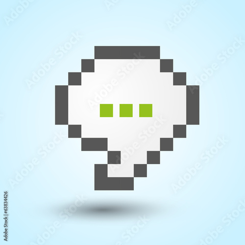 Communication pixel-art speech bubble