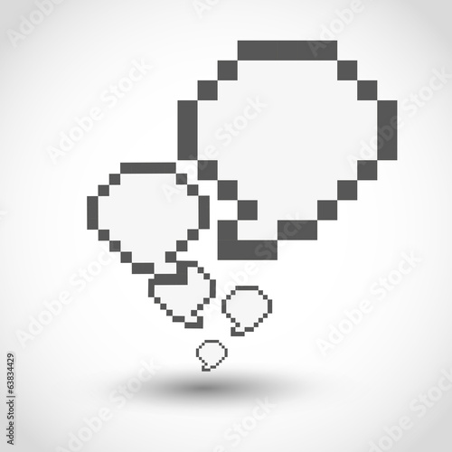 Pixel speech bubble concept