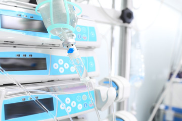 ICU equipment. _ Dropping and modern appliances.
