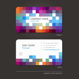 Fototapety Business card abstract background. Vector illustration.