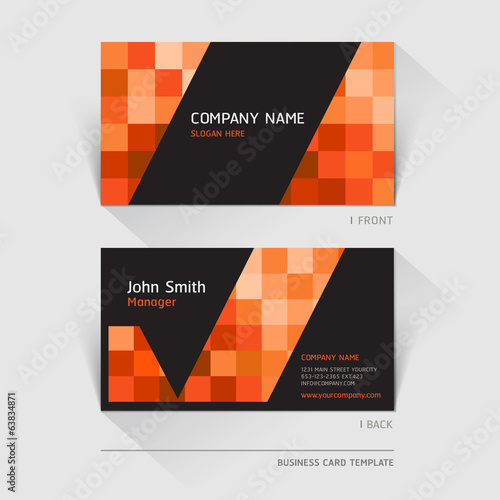 Business card abstract background. Vector illustration.