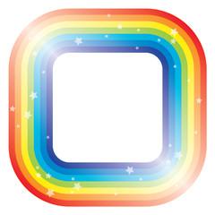 vector border of rainbow and stars