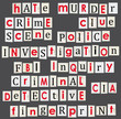 Crime and forensic science theme illustration.