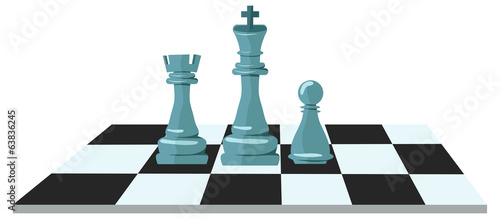 Flat design of chess figures