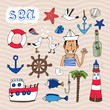 Hand drawn Nautical Elements - 63836482