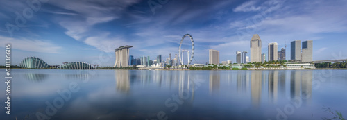 Landscape of Singapore city in day morning time.
