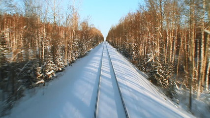 Railroad Track in winter
