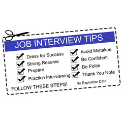 Blue Job Interview Tips Coupon