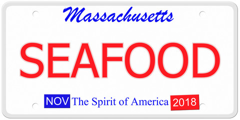 Massachusetts Seafood License Plate