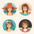avatar icons girls