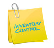inventory control post illustration design