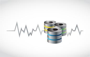 server and lifeline illustration design