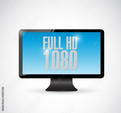 full hd 1080 monitor illustration design