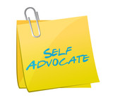 self advocate sign post illustration poster
