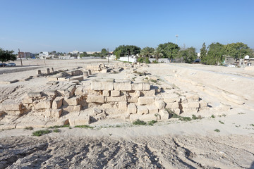 Barbar Temple Ruins in Bahrain, Middle East