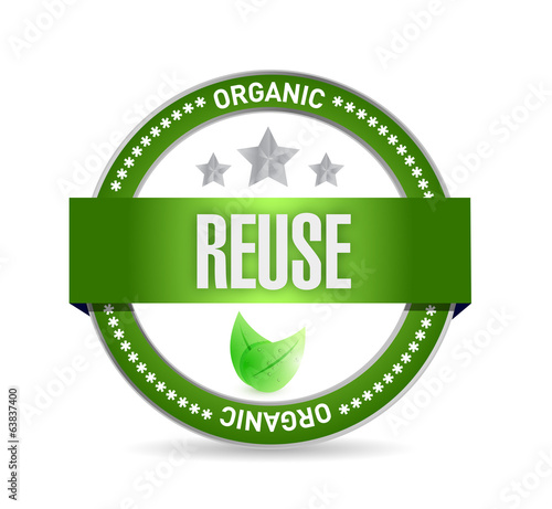 reduce organic seal illustration design