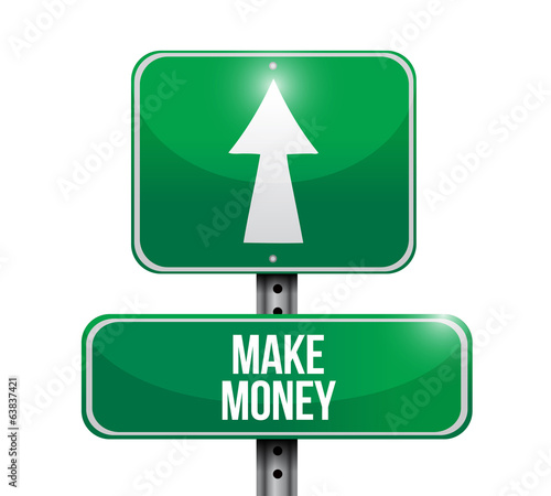 make money signpost illustration design