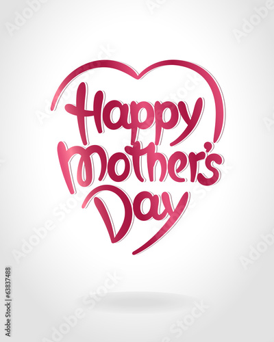 """Happy mother's day"" hand-drawn lettering"