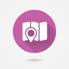 map and navigation icon