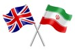 Flags: United Kingdom and Iran
