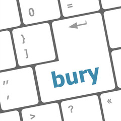 bury word on computer keyboard key