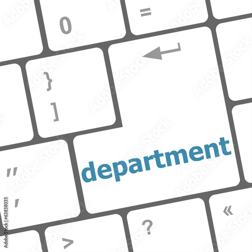 business concept: computer keyboard with word department