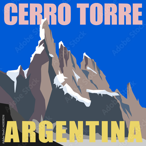 Mount Cerro Torre - peak in the Argentina, Andes