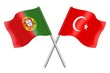 Flags: Portugal and Turkey