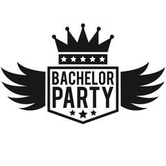 Bachelor Flügel Krone Banner