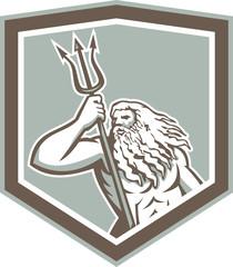 Neptune Holding Trident Shield Retro